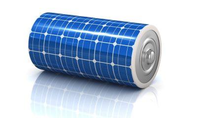 enerji depolama - solar power 3d concept - solar panel battery